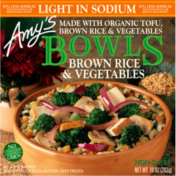 Amys Amys Brown Rice and Vegetables 10 oz