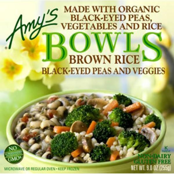 Amys Amys Black Eye Peas and Vegetable Brown Rice Bowl 9 oz