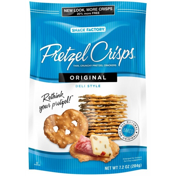 Snack Factory Snack Factory Pretzels Crisp Original 7.2 oz
