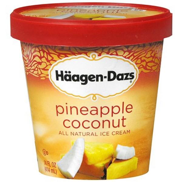 Haagen Dazs Haagen-Dazs Pineapple Coconut 1 pint