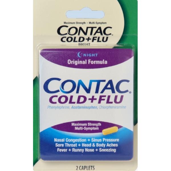 Contac Contac Cold + Flu 4 Caps