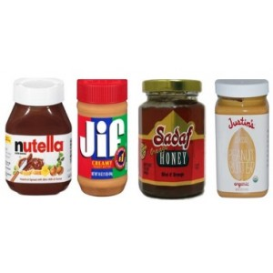 Honey, Jam,Peanut Butter