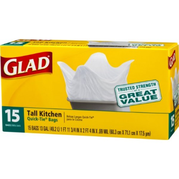 Glad Glad Large Kitchen Bags 15 ct