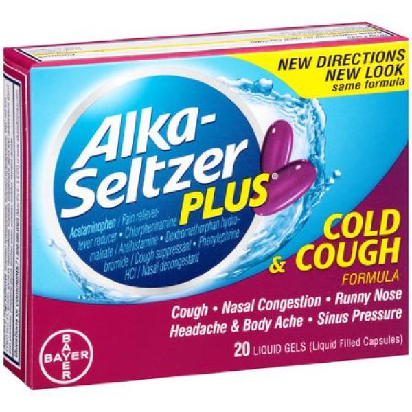 Alka-Seltzer Alka-Seltzer Plus Cold & Cough 10 Caps
