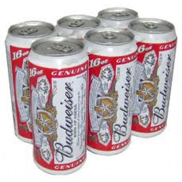 Budweiser Budweiser 6pk Can