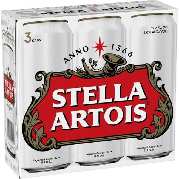 Stella Artois  Can 3pk 19.2oz