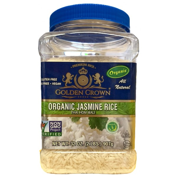 Golden Crown Organic Jasmine Rice 32 oz