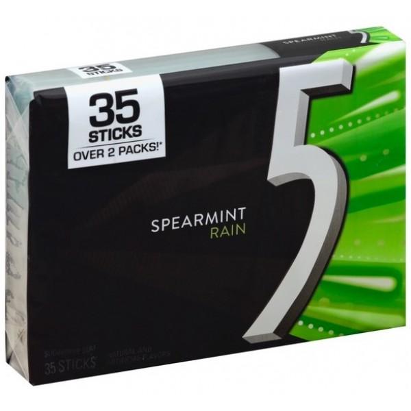 5 Gum Spearmint Rain 35 sticks