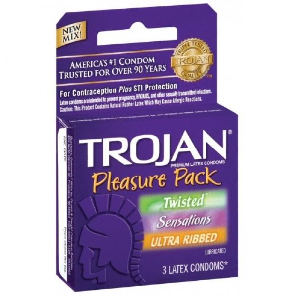 Trojan Trojan Pleasure Pack 3 ct