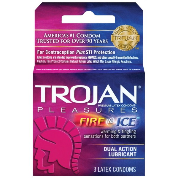 Trojan Fire & Ice Dual Action Lubricant 3 ct
