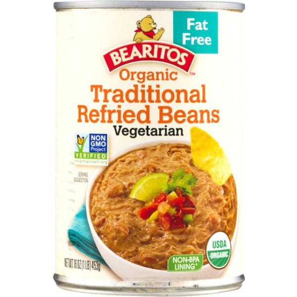 Bearitos Organic Traditional Refried Beans 16 oz