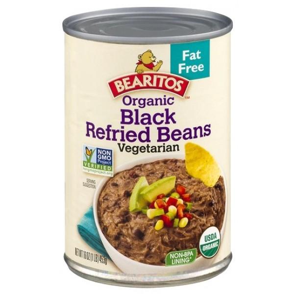 Bearitos Organic Black Refried Beans 16oz