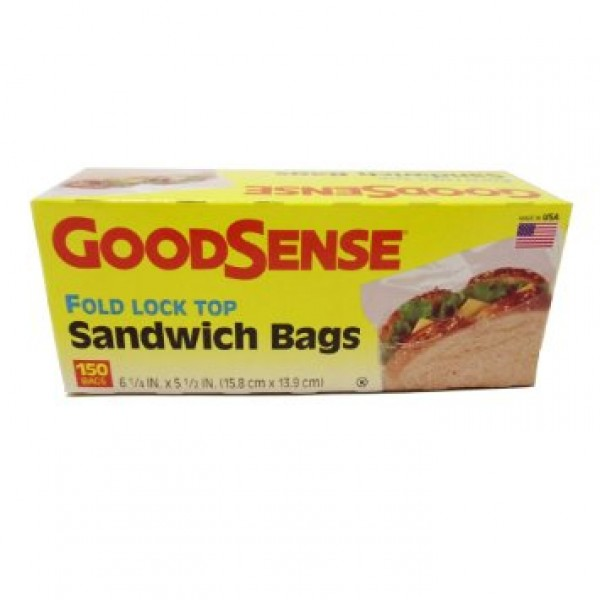 Good Sense Good Sense Fold Lock Top Sandwich Bags 150 Bags