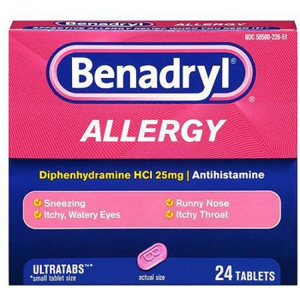 Benadryl Benadryl Allergy 24 Tablets