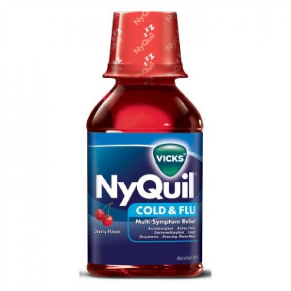 Vicks Vicks Nyquil Cold & Flu Cherry 8 oz