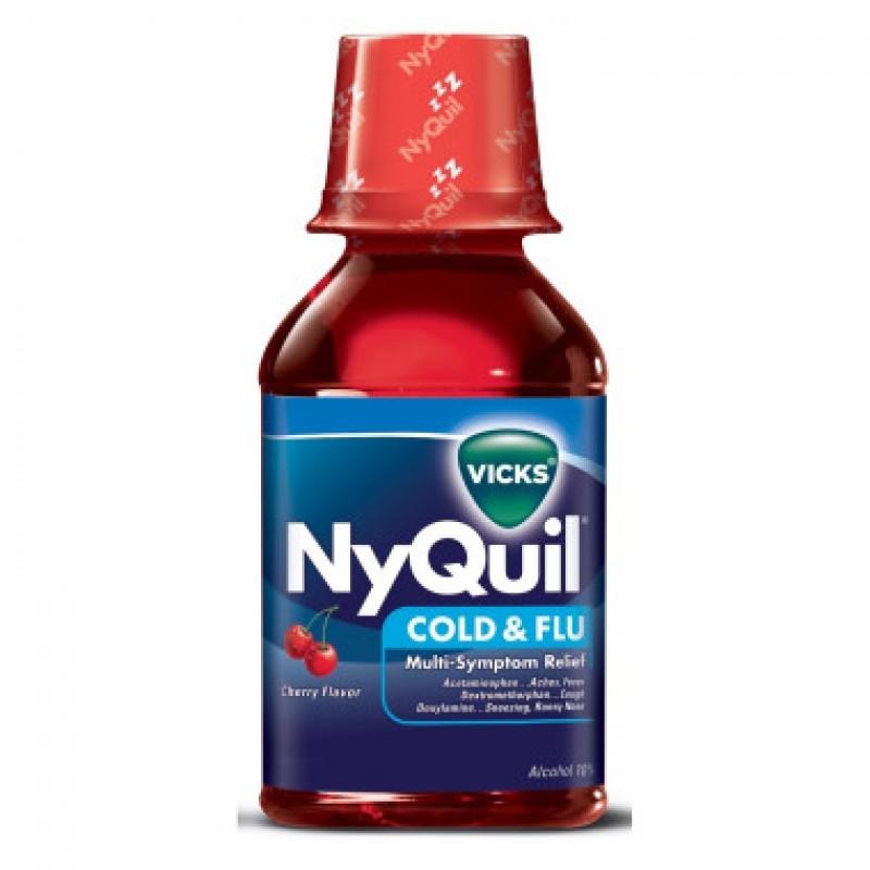 vicks vicks nyquil cold flu cherry 8 oz
