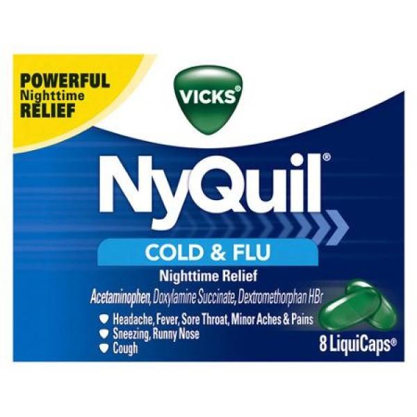 Vicks Vicks NyQuil Cold & Flu 8 Caps