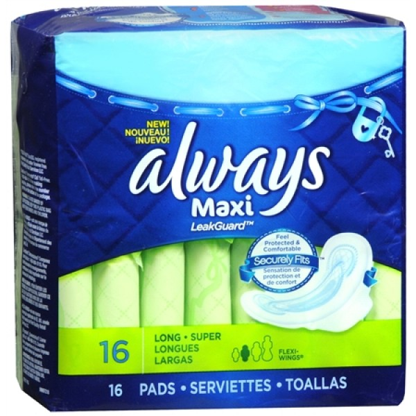 Always Always Maxi Long Flex Wings 16 ct