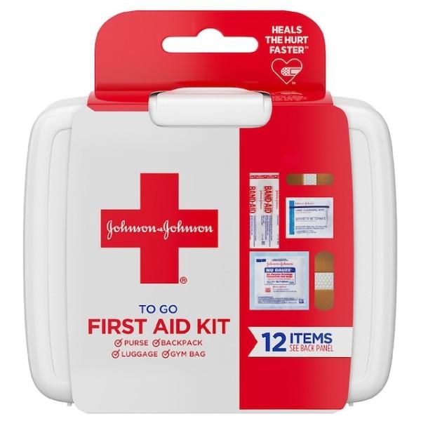 Johnson & Johnson First Aid Kit 12 Items