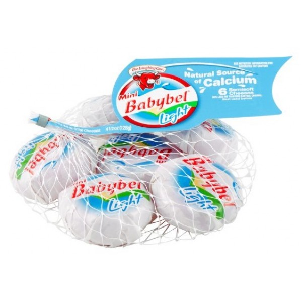 Laughing Cow Mini Babybel Light Cheese 4.5 oz