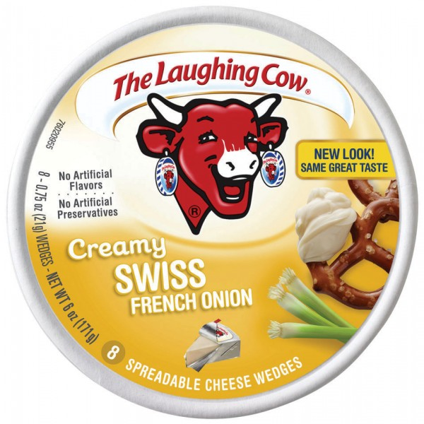 Laughing Cow Laughing Cow Swiss French Onion Light Wedge 6 oz