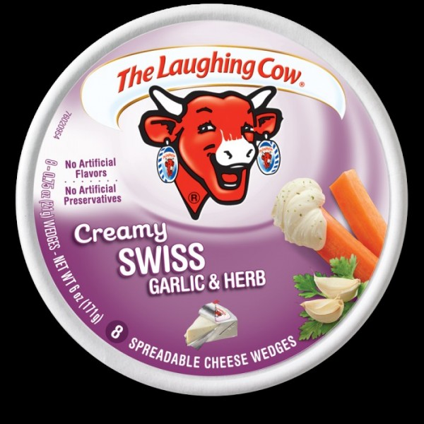 Laughing Cow Laughing Cow Swiss Garlic Herb Wedge 6 oz