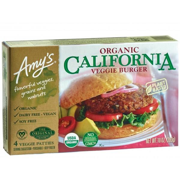 Amys Organic California Veggie Burger 4 ct