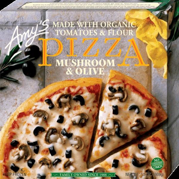 Amys Amys Organic Mushroom Olive Pizza 13 oz