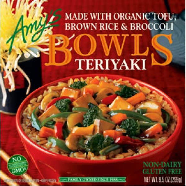 Amys Amys Teriyaki Bowl 9.5 oz