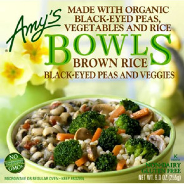 Amys Amys Black Eye Peas and Vegetable Brown Rice Bowl 9 oz