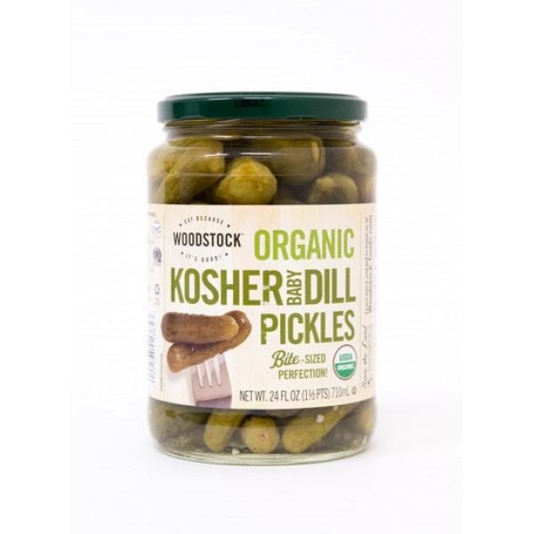 Woodstock Woodstock Organic Kosher Baby Dill Pickles