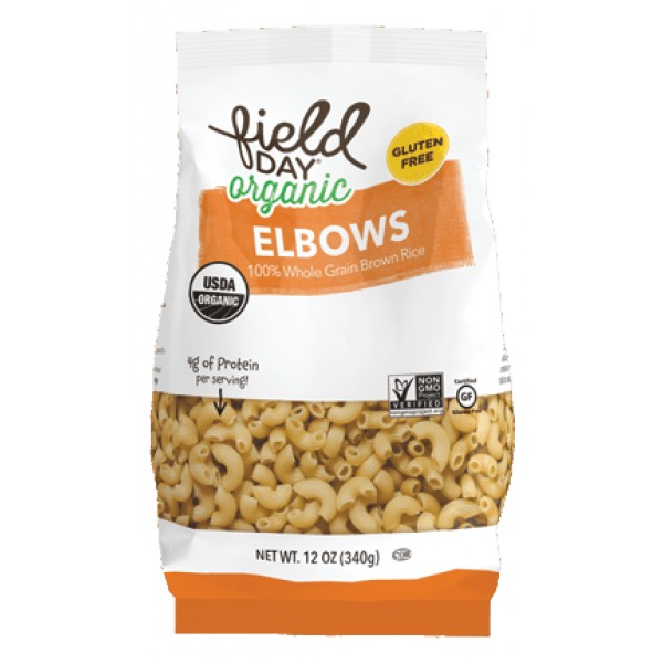 Field Day Brown Rice Elbow 12oz