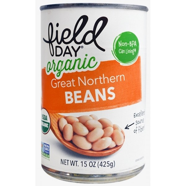 Field Day Organic Great Northern Beans 15 oz