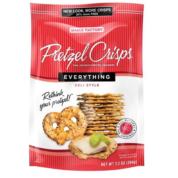 Snack Factory Pretzels Crisp Everything 7.2 Oz