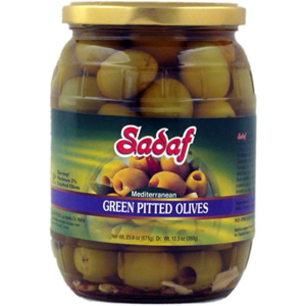 Sadaf Sadaf Green Pitted Olives 23.8 oz