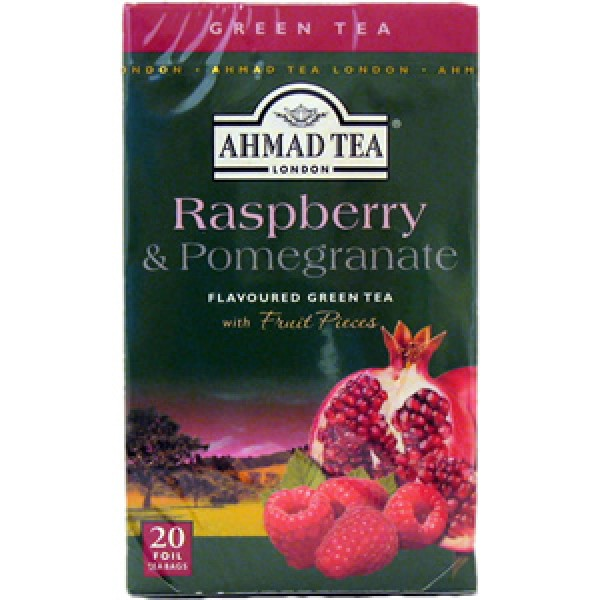 Ahmad Ahmad Raspberry Pomegranate Green Tea 20 ct