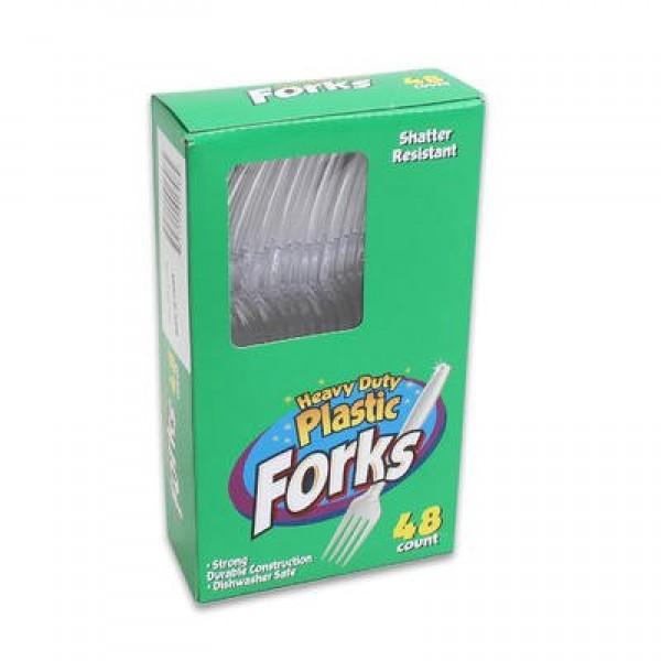 Plastic Forks 48 ct