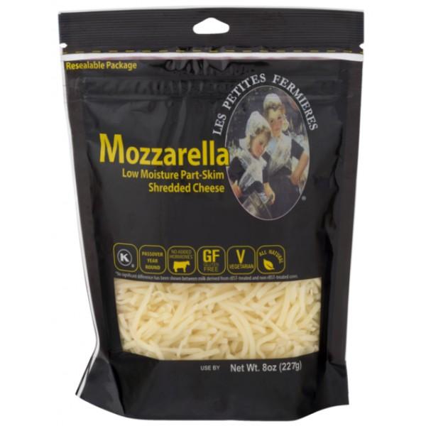 Les Petites Les Petites Mozzarella Shredded 8 oz