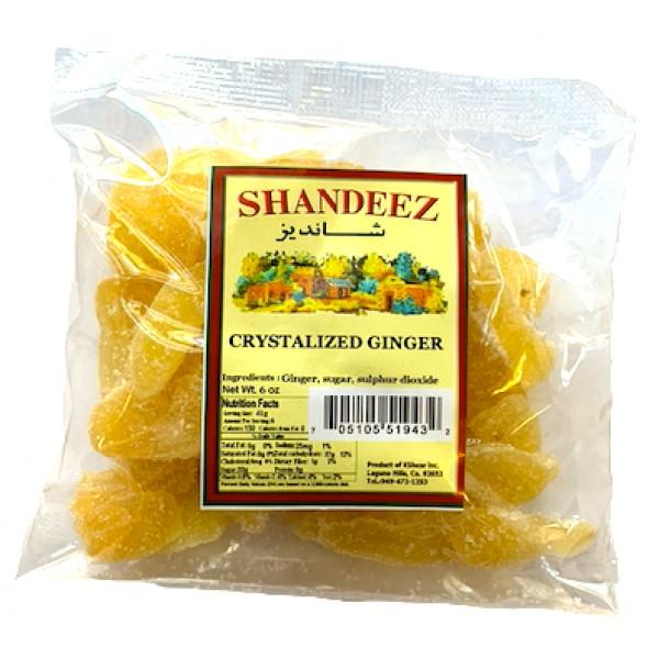 Shandeez Crystalized Ginger 6 oz