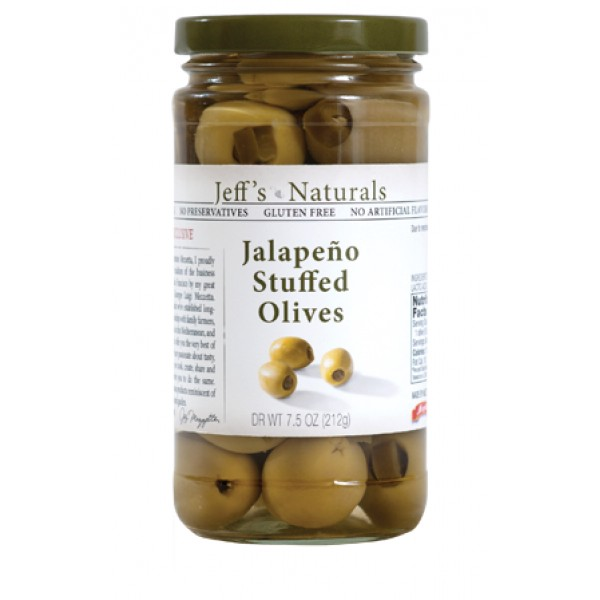 Jeffs Naturals Jeffs Naturals Jalapeno Stuffed Olives