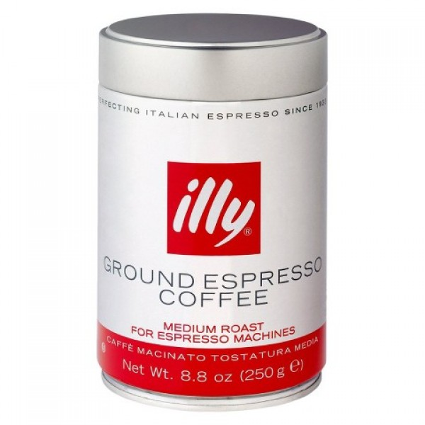 Illy Ground Espresso Medium Roast 8.8 oz