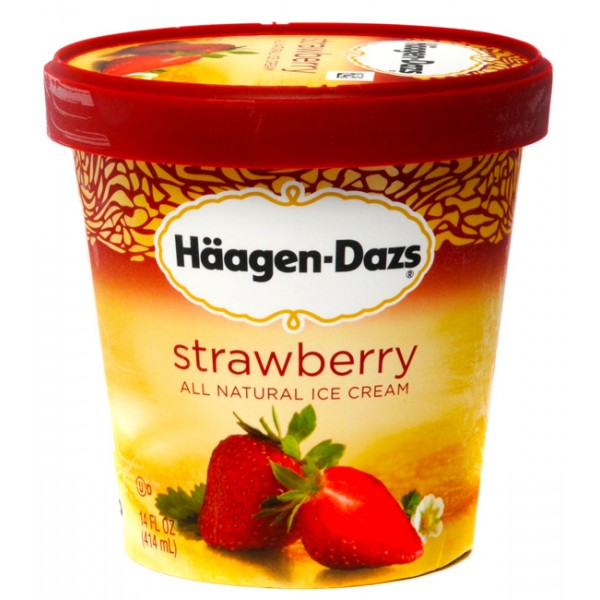Haagen Dazs Haagen-Dazs Strawberry 1 pint