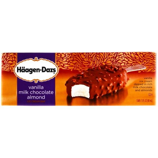 Haagen Dazs Haagen Dazs Vanilla Milk Chcocolate Almond Bar