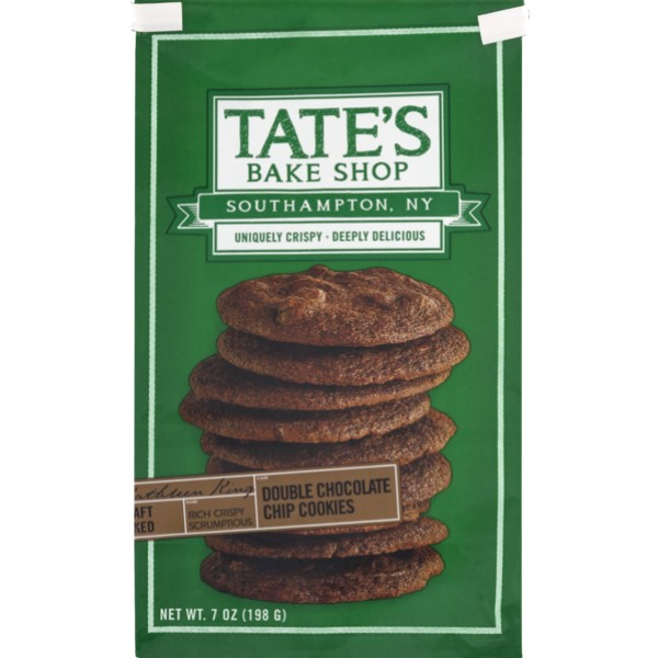 Tates Tates Double Chocolate Chip Cookie 7 oz