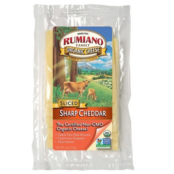 Rumiano Rumiano Organic Sliced Sharp Cheddar Cheese 6 oz
