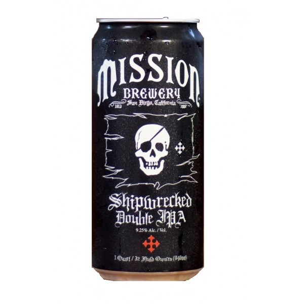 Mission  Brewery Mission Shipwrecked Double IPA 32 oz