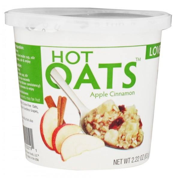 Love Grown Foods Hot Oats Apple Cinnamon 2.22 oz