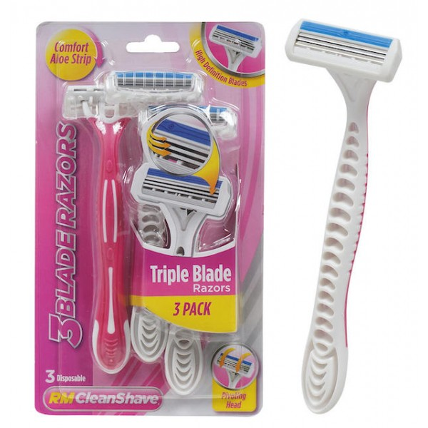 Rm Clean Shave Triple Blade Razors 3pack