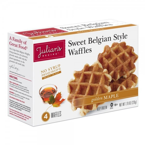 Julians Julians Belgian Waffles Maple 4 ct