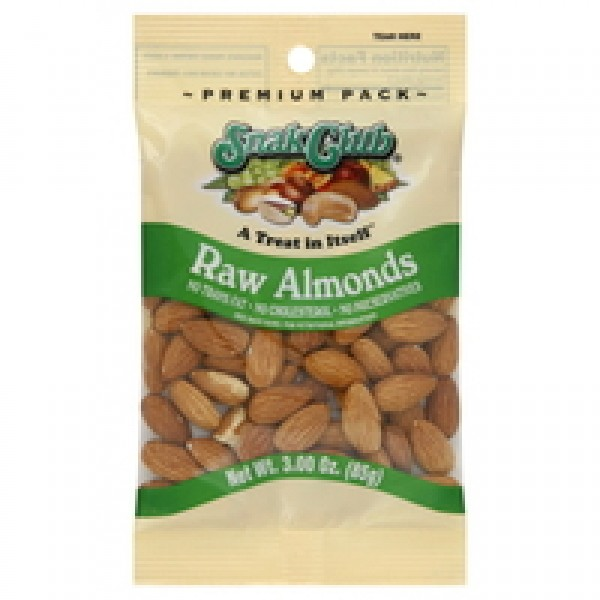 Snak Club Snak Club Raw Almonds 3 oz